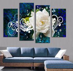 Resultado de imagen para como decorar mi casa con cuadros grandes en la sala con flores