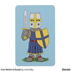Cute Medieval Knight Magnet