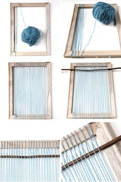 How to make your own Diy Woven Wall Hanging -- could translate to rug or throw