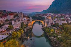 Amanecer en Mostar, Bosnia y Herzegovina #photography #travel