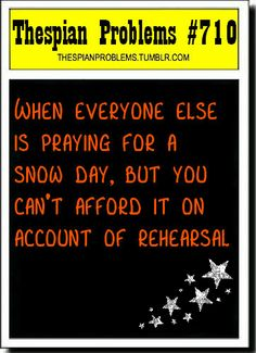 Agh! just missed a very important four hr tap rehersal due to snow