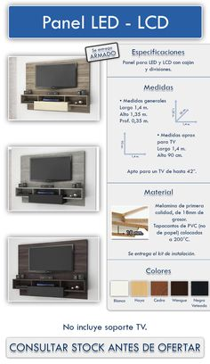 Panel Lcd Led- Rack - Modular - Rack - Mueble - Organizador - $ 3.550,00
