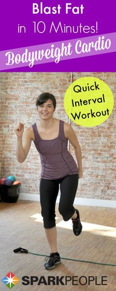 Squeeze in some cardio into your day with this 10 minute body weight cardio workout routine!