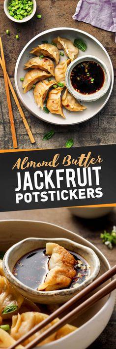 Almond Butter Jackfruit Potstickers
