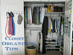Closet Organizing Tips to get you organized and keep you that way by Organize and Decorate Everything