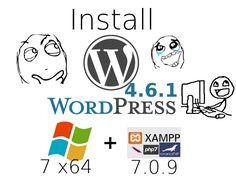 Install #WordPress 4.6.1 on Windows 7 localhost ( XAMPP 7.0.9 - #php7 ) #CodingTrabla Tutorials