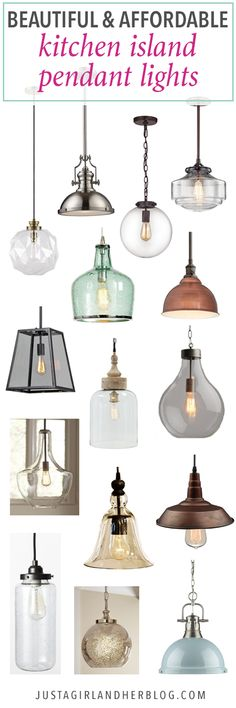 Home- Kitchen Island Pendant Lights, Affordable Pendant Lights, Pendant Lights under $200, Kitchen Decor, Kitchen Light Fixtures, How to Choose Pendant Lights, Kitchen Lighting