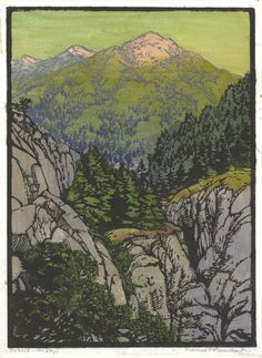 Behold - The Day, Frances Gearhart, wood block print