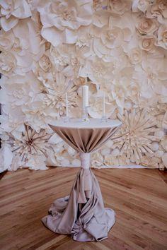 Chicago Wedding at the Bridgeport Art Center from - Paper Flower Backdrop Wedding Wedding Paper, Diy Wedding, Wedding Flowers, Dream Wedding, Wedding Ideas, Paper Flower Wall, Paper Flower Backdrop, Paper Flowers, Wedding Trends
