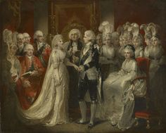 The Marriage of George IV (1762-1830) when Prince of Wales by Henry Singleton, 1795. Royal Collection Trust/© Her Majesty Queen Elizabeth II 2017