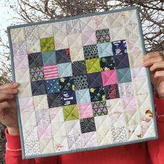 A Little Bit Biased: Pixilated Heart Mini Quilt