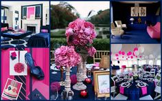 navy and pink wedding color ideas