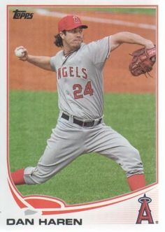 2013 Topps Baseball #24 Dan Haren MLB Trading Card by Topps. $1.99. 2013 Topps Co. trading card in near mint/mint condition, authenticated by Topps Collectibles