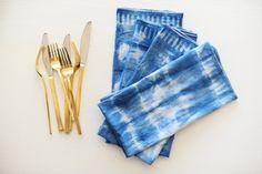 DIY indigo napkins