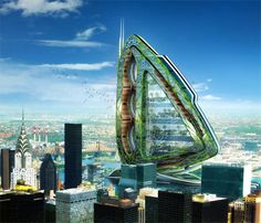 Hyperions by Vincent Callebaut « Inhabitat – Green Design, Innovation, Architecture, Green Building Architecture Design Concept, Architecture Durable, Futuristic Architecture, Sustainable Architecture, Amazing Architecture, Sustainable Design, Biomimicry Architecture, Innovative Architecture, Building Architecture