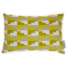 Eleanor Pritchard Easterly Cushion. Beautiful soft yellows and greys - cushion also to go on the sofa.