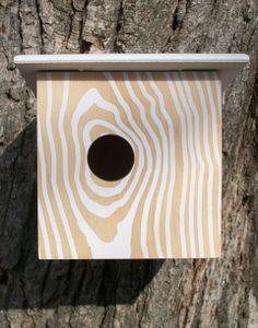 Screenprinted bird house by Hubler Furniture Co.