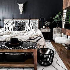 The lattice pattern is sure to delight in any room of your home without competing with your décor. Master Bedroom Design, Home Bedroom, Bedroom Ideas, White Rug, Black White, New Room, House Rooms, Room Inspiration, Interior Inspiration