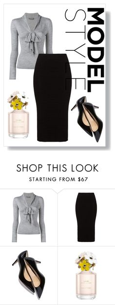 """""""Model style"""" by phoebejosmith ❤ liked on Polyvore featuring Alexander McQueen, Mat, Marc Jacobs, women's clothing, women, female, woman, misses and juniors"""