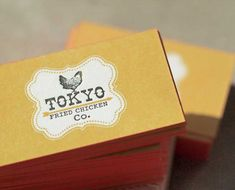 thick yellow business card