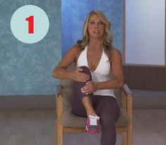 Denise Austin: Abs- Office Workout is a short but effective workout that focuses on sculpting the abs, slimming the waistline, and tightening the oblique mus. Denise Austin, Office Exercise, Pilates Video, Abs, Yoga, Workout, Sports, Silhouette, Health