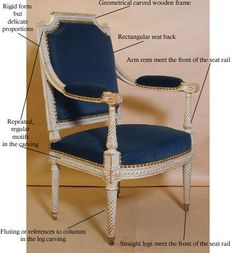 Louis XVI (16th) Style Chair  (1774 - 1792)