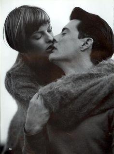 Linda Evangelista & Kyle MacLachlan: Linda In Love - Vogue by Steven Meisel, September 1993