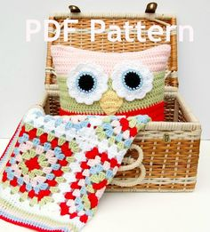 hopscotch lane: #Crochet Owl Pillow Pattern for sale