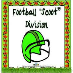 This is a fun game which is great for football season and will get kids moving as they practice their division facts. $3.oo from Teachers Pay Teachers #coolmathgames #footballgamesforkids #divisionpractice