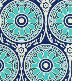 Modern Essentials Print Fabric-Ring Around Peacock Fabric Patterns, Print Patterns, Peacock Fabric, Peacock Print, Flower Circle, Colour Pallette, Online Craft Store, Home Decor Fabric, Fabric Samples
