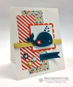 Stampin up stampinup pretty oh whale spring catalog card ideas punch order online