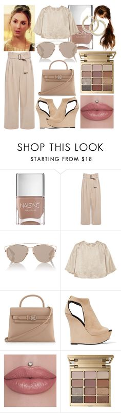 """""""loving you isn't the right thing to do"""" by nothing-better-than-a-riddle on Polyvore featuring Nails Inc., A.L.C., Christian Dior, Sonia Rykiel, Alexander Wang, Balmain and Stila"""