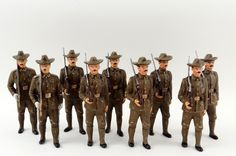 HEYDE, ELASTOLIN, PFEIFFER ROUGH RIDERS GERMAN COMPOSITION ANTIQUE TOY SOLDIERS | eBay