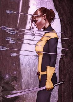 Kitty Pryde X Men. I am so in love with Kitty Pryde Comic Book Characters, Comic Book Heroes, Marvel Characters, Comic Character, Comic Books Art, Comic Art, Ms Marvel, Marvel Girls, Marvel Heroes