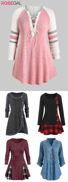 Rosegal Plus Size Fall casual tshirts women fall outfits ide.- Rosegal Plus Size Fall casual tshirts women fall outfits ideas Rosegal Plus Size Fall casual tshirts women fall outfits ideas - Plus Size Fall Outfit, Plus Size Fall Fashion, Plus Size Casual, Plus Size Outfits, Girls Fall Outfits, Casual Summer Outfits, Cute Outfits, Plus Size Herbst, Trendy Plus Size Clothing