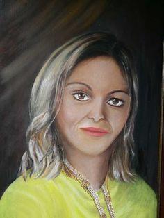 Portrét-Alena, olej na plátne Painting, Painting Art, Paintings, Painted Canvas, Drawings
