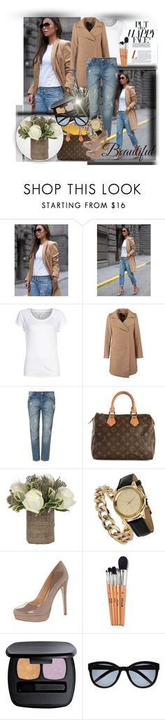 Casual Chic Outfi by sheilafelix on Polyvore featuring moda, Louis Vuitton, Miss Selfridge, River Island, Bare Escentuals, Jayson Home and Brikk