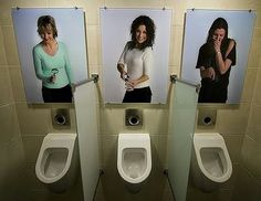 Clever Bathroom Signs urinal   bathroom urinal photos   pinterest