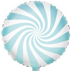 Candy Swirl Baby Blue Balloon | Childrens Party Balloons