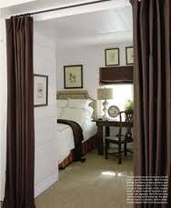 sectioning off a room with curtains - Google Search