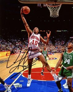 3ab90af8882 Dennis Rodman Detroit Pistons Autographed 8