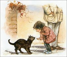 "illustration by the artist Shirley Hughes from her book ""All shapes and sizes""."