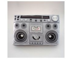 Boombox Pillow by Mymimi, $14