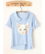 Cat blue T-Shirt