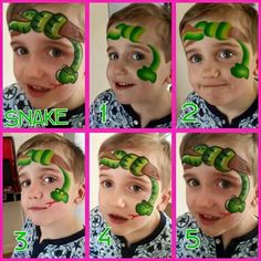 Face painting snake