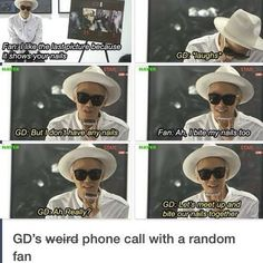 G-Dragon XD ahahaha lets bite our nails together lol