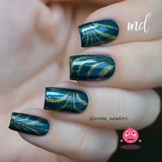 One nail look for every occasion 😍 Nail Art Blog, Nail Art Videos, Diy Nails, Cute Nails, Nail Art Courses, Uñas Diy, Painted Toe Nails, Peacock Nails, Luxury Nails