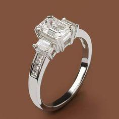Emerald Cut Diamond Engagement Ring: Ecali Fine Jewelry