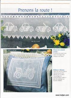 Häkeln & Filethäkeln  Gardine - crochet curtain - cortinas