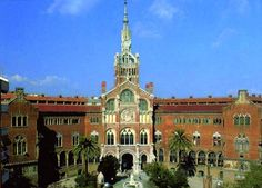 Hospital de Sant Pau, Barcelona. Architect Domènech i Muntaner.
